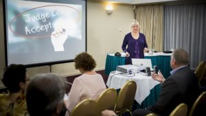Janeen Sonsie Hosting Executive Coaching Event